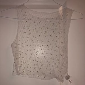 Super cute mesh pearl top from M! Never worn!